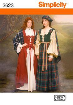 Womans HIghland Costume Pattern Simplicity 3623 by StitchySpot