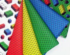 LEGO Fabric by the Yard | Bricks Fabric Yard lego inspired quilting cotton by spacefem, $26.00