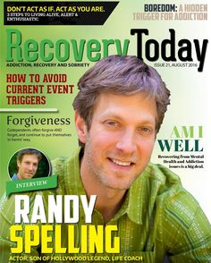 Recovery Today Magazine Issue #21 is out! FREE! RecoveryTodayMagazine.com (link on our profile) . Packed with inspirational content with one purpose to give you hope. Contact information for drug and alcohol detox and treatment is provided as well as connection to all our authors. . FEATURED IN THIS ISSUE ======================== Issue 21 - August 2016 - Exclusive Interview with Randy SpellingActor Son of Hollywood Legend Life Coach ========================= . In this issue we discuss…