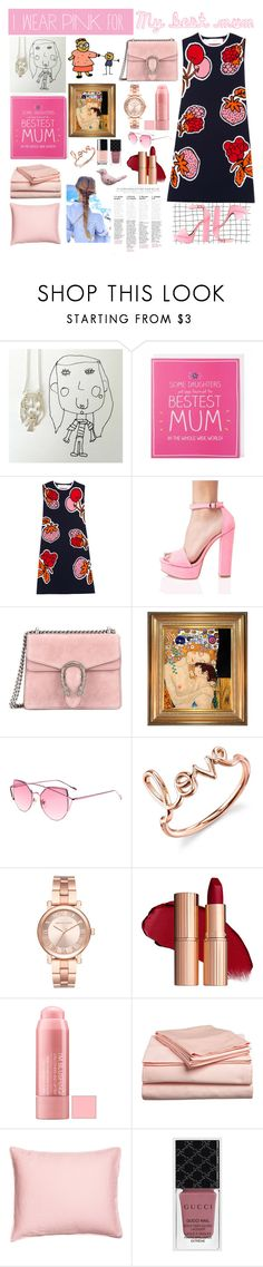 """""""I wear pink for..."""" by bartivana ❤ liked on Polyvore featuring Victoria, Victoria Beckham, Chinese Laundry, Gucci, Sydney Evan, Michael Kors, IWearPinkFor and mybestmum"""