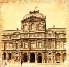 Louvre Museum, Paris photo, Paris canvas, Paris decor, Paris vintage, Gallery wrap, Canvas print, Canvas photo, Home decor, Room decor