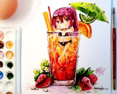 Video => youtu.be/CHEOIeTuADE New Watercolor Painting with Gou from the Kyoani Anime Free. I really liked to draw her. She's an awesome character with a strong will and lots of power. Yush Hands...