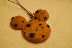 Mickey Cookie Polymer Clay Charm.