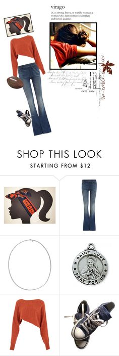 """""""les ours et le football"""" by doelikeness ❤ liked on Polyvore featuring Made by Niki, True Religion, John Hardy, Crea Concept and Converse"""