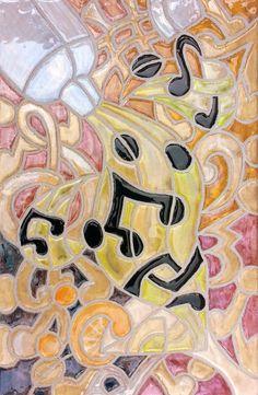 Home Decor  Wall Decor  Wall Art    Music  Mosaic Tile Musical Notes Margarita