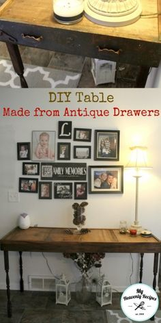 DIY Table Made From Antique Drawers, Cost Under $20