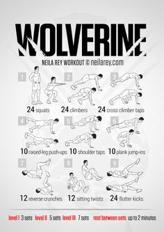 Wolverine Workout | https://neilarey.com | #fitness #bodyweight Make sure to check out our fitness tips, nutrition info and more at http://www.getyourfittogether.org/