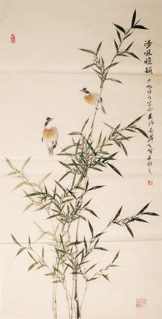 Chinese Birds&Bamboo Paintings
