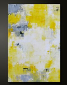 Abstract in Yellow 3 36 x 24 Abstract Acrylic Painting