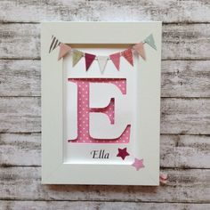 Baby diy name initials 22 Ideas for 2019 Diy Baby Gifts, Baby Crafts, Diy And Crafts, Cuadros Diy, Baby Room Diy, Frame Crafts, Box Frames, Baby Decor, Diy For Kids