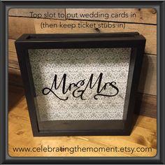 Wedding Card Box 12x12 Shadow Box then use by CelebratingTheMoment