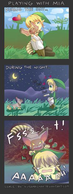 -- Zelda Skyward Sword: A day with Mia -- by *Kurama-chan on deviantART