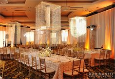 """Thanks the team from #Blooming #Design & #Events, Stella and Vlad received above and beyond the elaborate #decoration they wanted. """"They were extremely easy to work with… every design team's dream."""