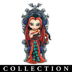 Royal Vampire Maidens figurine collection by acclaimed fantasy artist Jasmine Becket-Griffith. Dracula, Gothic Fairy, Fairy Figurines, Beautiful Fairies, Step By Step Painting, Cartoon Pics, Fairy Art, Whimsical Art, Big Eyes