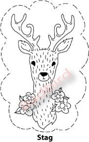 PDF Stag With Flowers Embroidery Pattern by badbird on Etsy