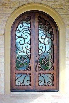 Wrought Iron Doors - by Cantera Doors Leading Supplier Entry Gates, Entry Doors, Kitchen Cupboard Designs, Wrought Iron Doors, Iron Steel, Front Entrances, Steel Doors, Spanish Style, Milan