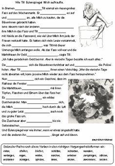 zeitformen bei verben kreuzwortr228tsel und arbeitsblatt
