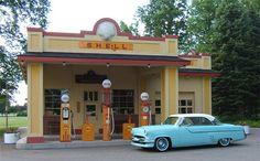 vintage service stations | Vintage Filling Stations - The Garage Journal Board
