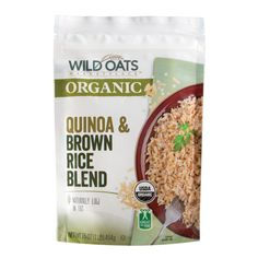 USDA Certified Organic Quinoa & Brown Rice Blend. Naturally Low in Fat.