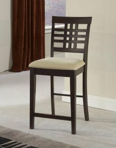 Tiburon Non-swivel Counter Stools - Set Of 2 In 1 Ctn by Hillsdale Furniture. $317.04. Style Traditional;Contemporary. Espresso. Other Dimensions 24 in. Seat Height. Functional and fashionable. Assembled Dimensions 40.5 in. H x 18 in. W x 21.75 in. D. Balanced and precise lines combine with an espresso finish and clean tapered legs to create our Tiburon dining collection. Complete with a matching bench and counter and bar height swivel barstools, all with matching neutral ivo...