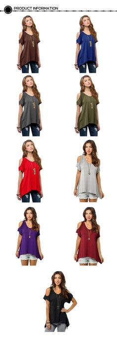 Milkuu Women's Cold Shoulder Hollow Out Tunic Top