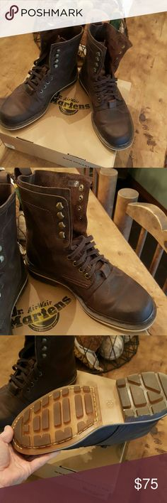 New dr.Martins New to snug on my husbands feet great work boots Dr. Martens Shoes Boots