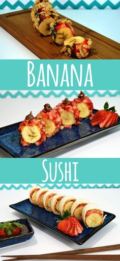 Banana Sushi - A fun, easy, and healthy breakfast (or dessert!) alternative. I can't stop eating!