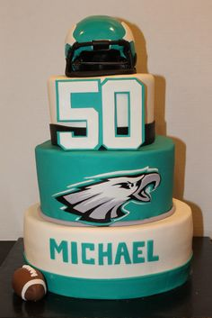 Philadelphia Eagles Cake Giant Sports Themed Cakes 40th Birthday Ideas