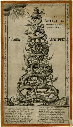 Hierarchy of Hell | representation of the Roman Church hierarchy as the Serpents of Hell ...