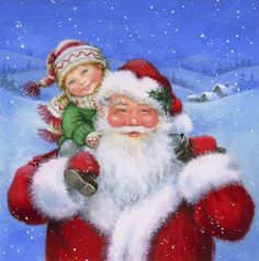 Leading Illustration & Publishing Agency based in London, New York & Marbella. Christmas Eve Pictures, Santa Pictures, Vintage Christmas Images, Retro Christmas, Santa Christmas, Winter Christmas, Father Christmas, Santa Express, Christmas Markets Europe