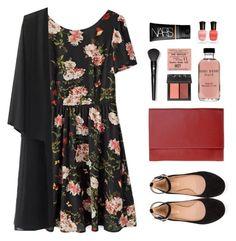 """Ankle Wrap Flats"" by sweetpastelady ❤ liked on Polyvore featuring moda, NARS Cosmetics, Chloé, Bobbi Brown Cosmetics, Lancôme y Deborah Lippmann"