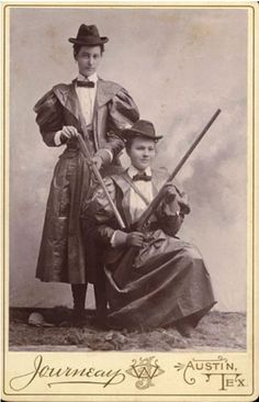 "tuesday-johnson: "" ca. 1890, [cabinet card, portrait of two hunters], W.O. Journeay """