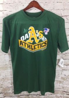NWT MLB OAKLAND A's Athletic Baseball T-Shirt Size 18 20 XL Boy's Youth Top New #Athletics #TeamAthletics #OaklandAthletics