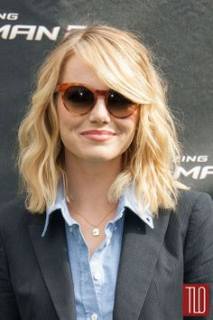 """Emma Stone in Band of Outsiders at the """"The Amazing Spiderman 2″ LA Photo Call 
