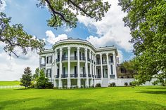 The nearby town of White Castle was so named for the South's largest antebellum mansion that looms above the cane fields. Iberville Parish Tourism www.visitiberville.com #DiscoverLouisiana