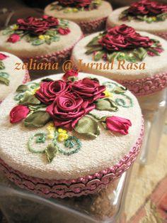 I ❤ ribbon embroidery . . .  canister 2 ~By Zaliana