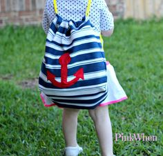 @PinkWhen.com - Jennifer West created a cute drawstring bag perfect for carrying all your goodies! #bag #summerofjoann