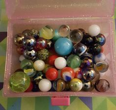 estate auction lot of vintage marbles #Unbranded
