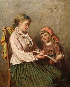 Edwin Thomas Roberts--  Children's Hour in Oil Painting ~ Blog of an Art Admirer