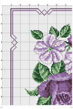 This Pin was discovered by hat Cross Stitch Rose, Cross Stitch Borders, Cross Stitch Flowers, Cross Stitch Designs, Cross Stitching, Cross Stitch Patterns, Basic Embroidery Stitches, Cross Stitch Embroidery, Christmas Cross