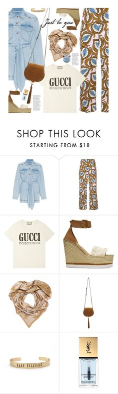 """Untitled #4491"" by beebeely-look ❤ liked on Polyvore featuring Nanushka, Marni, Gucci, See by Chloé, STELLA McCARTNEY, Chloé, Yves Saint Laurent, Urban Decay, boho and spring2018"