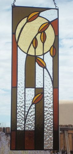 HANDMADE STAINED GLASS Narrow Rectangle by SunflowerGlassworks
