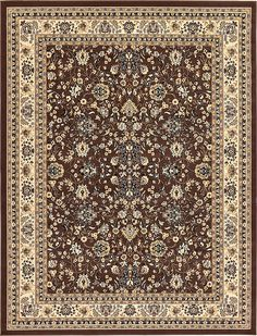 Unique Loom 3124951 9 Feet (9' x) Kashan Area Rug, 9 x 12, Brown -- See this great product. (This is an affiliate link) #HomeDecorInspiration