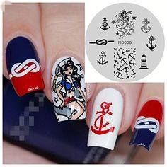 NICOLE DIARY Anchor Nail Art Stamp Template Image Stamping Plate NDP006 *** Check this awesome product by going to the link at the image.Note:It is affiliate link to Amazon.