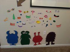 Build a monster wall, monster slime take home gift, monster eye balloons