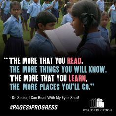 The places you'll go! #Pages4Progress