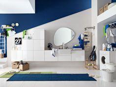 I mobili della collezione Bolle del marchio Arbi Arredobagno, rendono la lavanderia un ambiente funzionale! Scopriteli qui!
