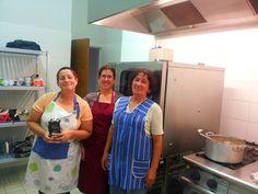 La courageuse équipe des cuisinières pendant les vendanges