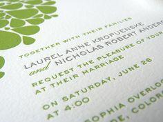 Wedding - invitation idea with flower in corner
