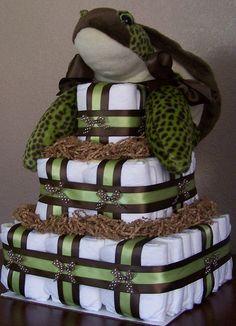 Sea Turtle Square Diaper Cake | This Sea Turtle Square Diape… | Flickr